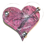 Support pour telephone portable coeur rose